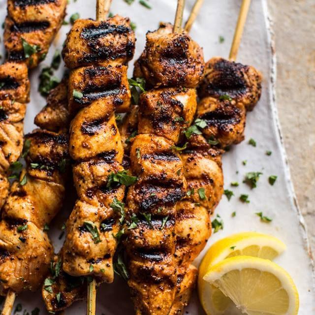 Tumeric & Honey Chicken Skewers
