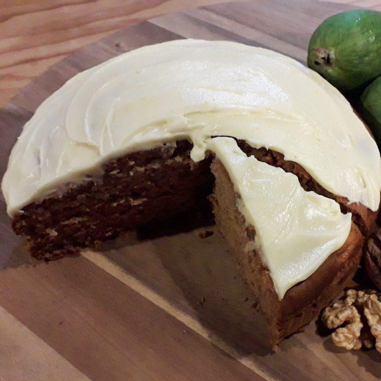Feijoa & Wild Forest Honey Cake Made With Pua-a-Tane Wild Forest Honey by Manawa Honey NZ