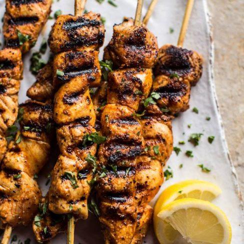 Honey Turmeric Chicken Skewers Manawa Honey Nz