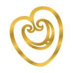 Logo Of Golden Heart For Manawa Honey NZ, Ruatahuna, Te Urewera, New Zealand