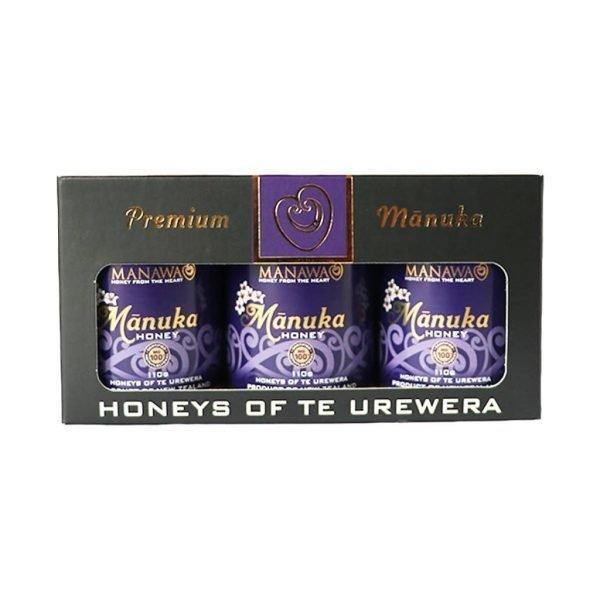 Mānuka Honey 3 x 110g Jars In Honeys Of Te Urewera Gift Pack By Manawa Honey NZ, Ruatāhuna, New Zealand