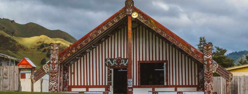 A Great Meeting House at Mataatua, Ruatahuna, Te Urewera, New Zealand, Where Manawa Honey NZ is Based