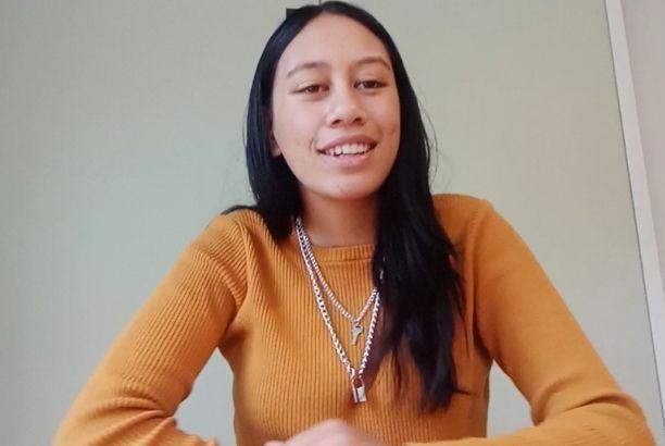 Manawa Honey NZ Staff Member In Orange Sweater