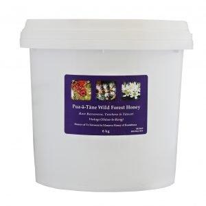 pua a tane wild forest honey 6kg pail manawa honey nz