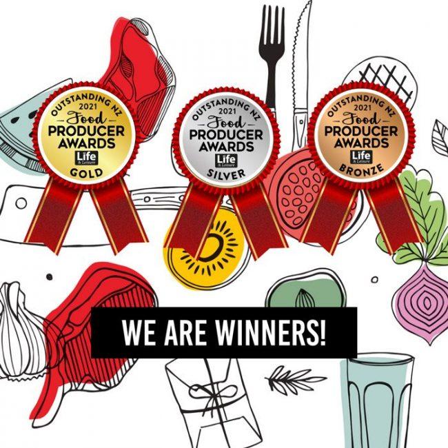 Award Medals For NZ Food Producer Awards Won By Manawa Honey NZ 2021