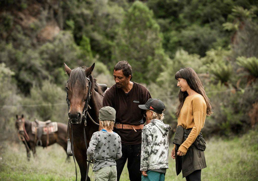 tour guide with horse and family manawa honey and tours ruatahuna te urewera